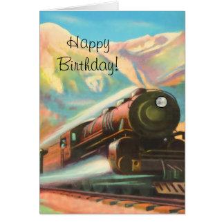 Zug-sich fortbewegendes alles Gute zum Geburtstag Karte