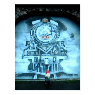 Zug-TunnelGnome Postkarten