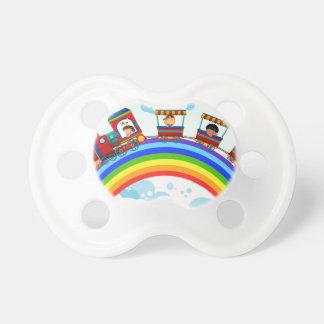 Zug und Regenbogen Baby Schnuller