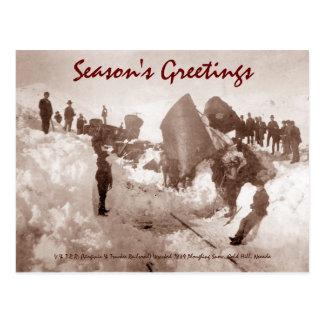 Zug-Wrack-Feiertags-Postkarte Postkarte