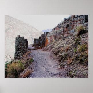 Zugang zu Pisac Zitadelle, Peru Poster