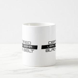 Zugelassenes Mageres sechs Sigma-schwarzer Tasse