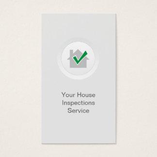 Zuhause-Inspektions-elegantes Weiß Visitenkarten