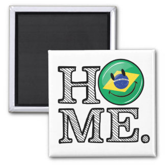 Zuhause ist Flaggen-Haus-Wärmer Brasiliens Quadratischer Magnet