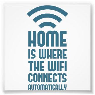 Zuhause ist, wo das WIFI automatisch anschließt Fotografie