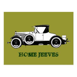 Zuhause Jeeves Vintages Auto Postkarte
