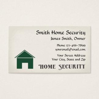 Zuhause-Sicherheits-Geschäfts-Karte Visitenkarte