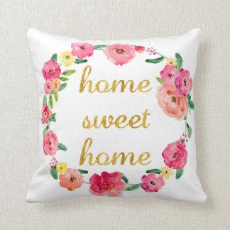 Zuhause-süßes Zuhause-Blumenkissen Zierkissen