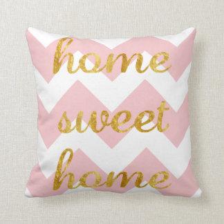 Zuhause-süßes Zuhause-Kissen mit Zickzack Streifen Kissen