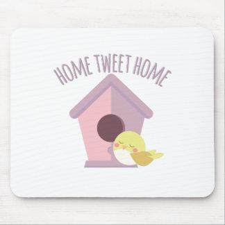 Zuhause tweeten Zuhause Mauspad