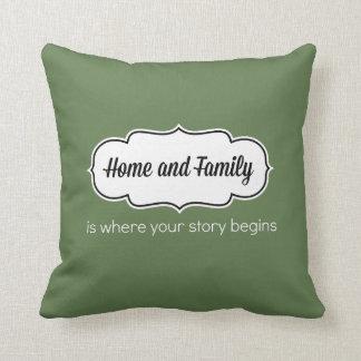 Zuhause-und Familien-Kissen (16 x 16) Kissen