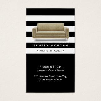 Zuhausestager-Innenarchitektur-moderne noble Art Visitenkarten