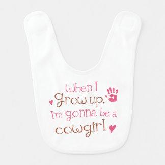 Zukünftiger Cowgirl Baby-Schellfisch Lätzchen