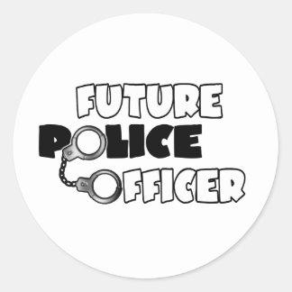 Zukünftiger Polizeibeamte Runder Aufkleber