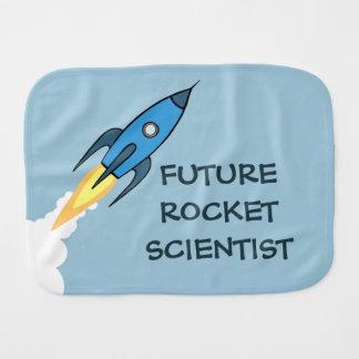 Zukünftiger Rocket-Wissenschaftler blaues Baby Spucktuch