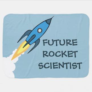 Zukünftiger Rocket-Wissenschaftler blaues Kinderwagendecke
