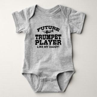Zukünftiger Trompeter mögen meinen Vati Baby Strampler