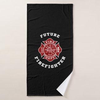 Zukünftiges Feuerwehrmann-Bad-Tuch Badehandtuch
