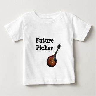 Zukünftiges Mandolinen-Pflücker-T-Stück Baby T-shirt