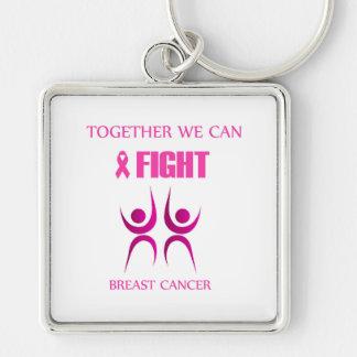 Zusammen können wir Brustkrebs kämpfen Schlüsselanhänger