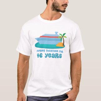 Zusammen kreuzen für 46 Jahre Jahrestags-Geschenk- T-Shirt
