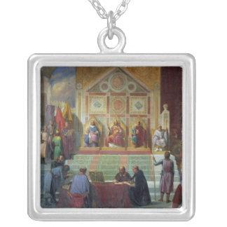 Zusammenbau der Kreuzfahrer in Ptolemais im Jahre  Halskette Mit Quadratischem Anhänger