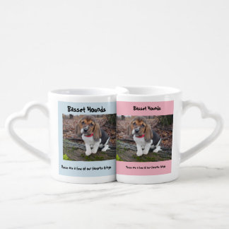 Zusammenpassende Dachshund-Jagdhund-Tassen Liebestassen