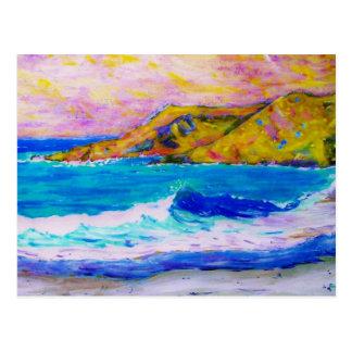 Zusammenstoßendes Meer Postkarte