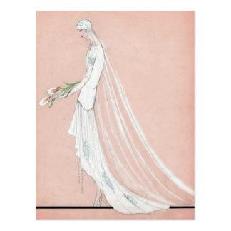 Zwanzigerjahre Braut Postkarte