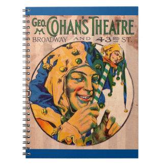 Zwanzigerjahre Cohans Theater playbill Abdeckung Notizblock