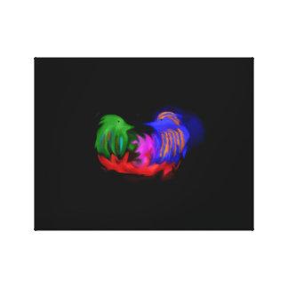 Zwei abstrakte Vögel (Farbstrudel) Leinwanddruck
