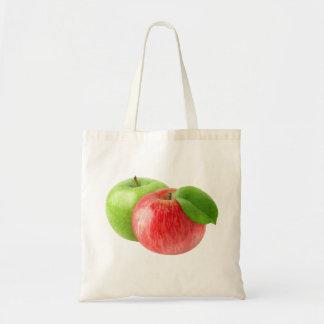 Zwei Äpfel Tragetasche