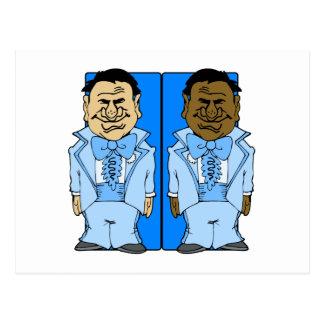 Zwei blaue Bräutigame Postkarte