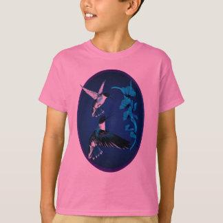 Zwei blaues Kolibri-Oval-Shirt T-Shirt