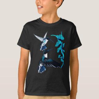 Zwei blaues Kolibri-Shirt T-Shirt