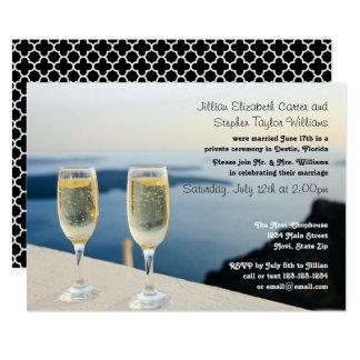Zwei Champagne-Glas-Foto - Hochzeits-Mitteilung 12,7 X 17,8 Cm Einladungskarte