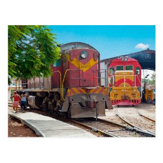Zwei diesellocomotives postkarte