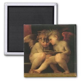 Zwei Engel, die durch Rosso Fiorentino, Engel Quadratischer Magnet