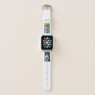 Zwei Foto-personalisiertes Bild-einfache moderne Apple Watch Armband