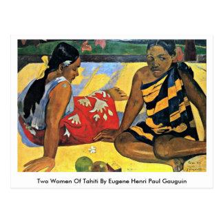 Zwei Frauen Tahiti durch Eugene Henri Paul Gauguin Postkarten