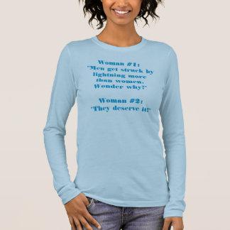 Zwei Frauen-Unterhaltung Langarm T-Shirt
