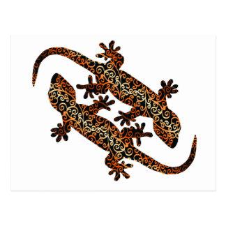 zwei geckos postkarte