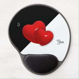Zwei Herz-kundengerechtes Gel Mousepad