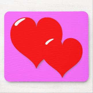 Zwei Herzen auf Mousepad