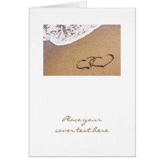 Zwei Herzen im Sand Grußkarte