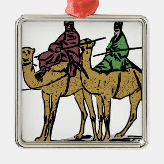 Zwei Kamel-Typen Silbernes Ornament
