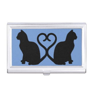 Zwei Katzen im Visitenkarten-Schatullen
