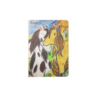 zwei Pferde Passhülle