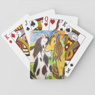 zwei Pferde Pokerkarten