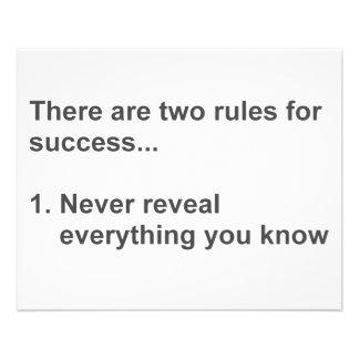 Zwei Regeln für den Erfolg aufgedeckt 11,4 X 14,2 Cm Flyer